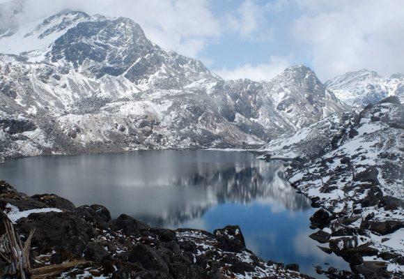 Mountain lake in Nepal