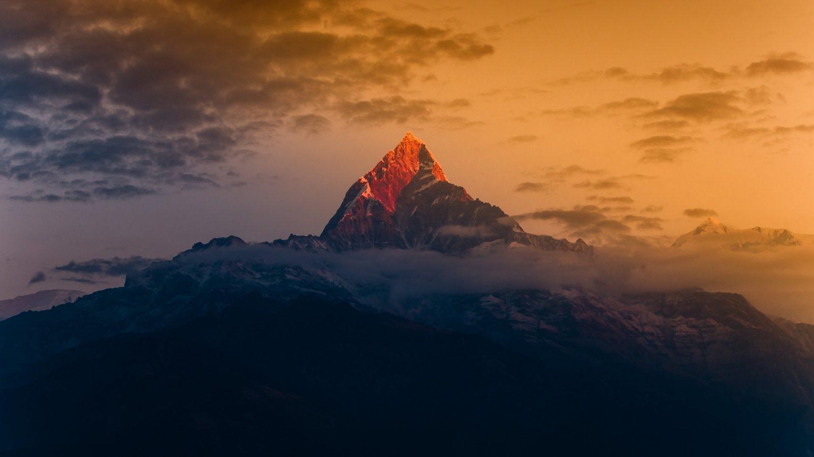 Morning burning mountain